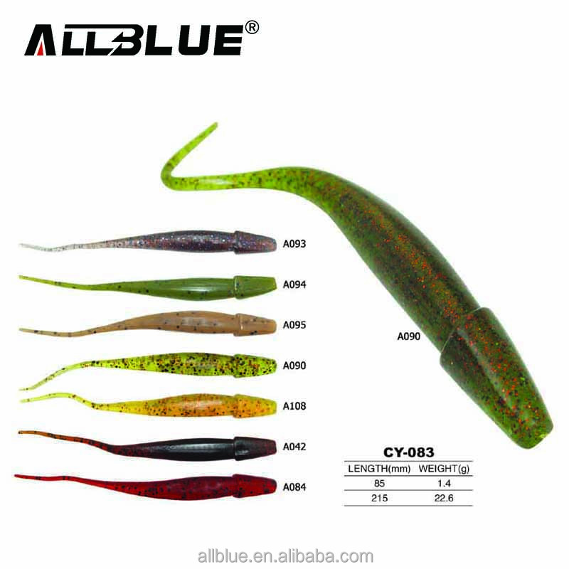 ALLBLUE Fishing Lures Soft Worm Fishing Tackle Lure Tools Artificial Loach Fishing Bait Swimbait