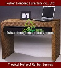 FRC0614-94 Flat Wicker Writing Desk For Study Room
