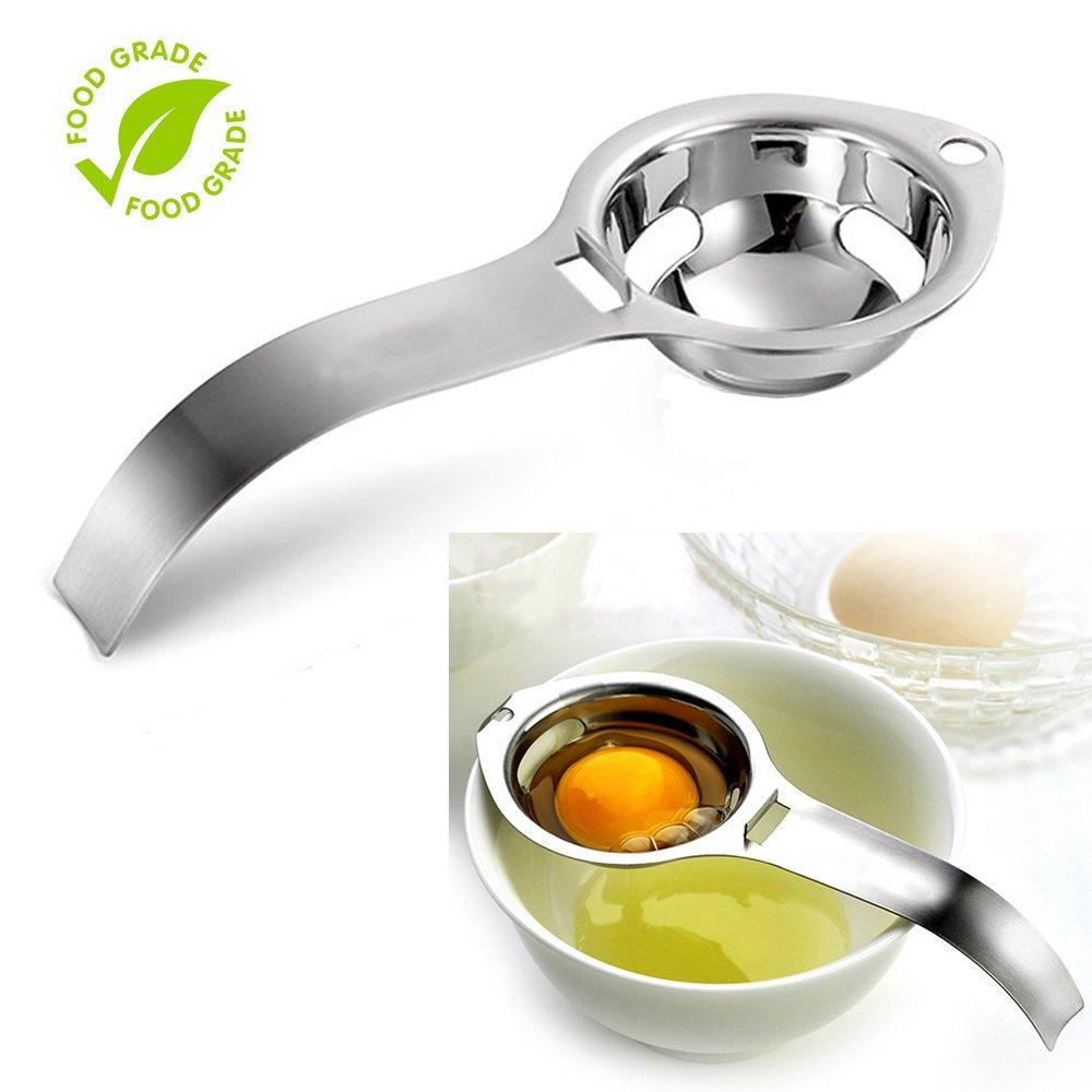 Egg Separator Egg Yolk White Filter Food Grade Egg Divider Stainless Steel Egg Sieve Kitchen Gadget Cooking/Baker Tool Egg Extractor