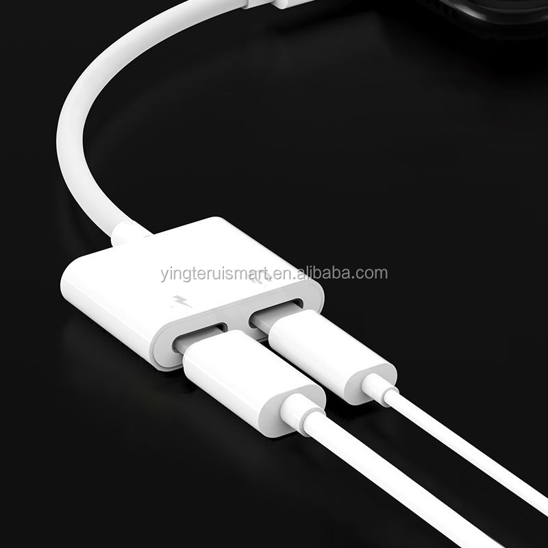 Audio Adapter 충전기 Cable 대 한 iPhone X 8 Dual 헤드폰 Aux cable Converter 대 한 iPhone 10 Charging Splitter