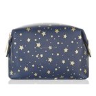 All Over Stars Gold Print Wash Makeup Beauty Bag