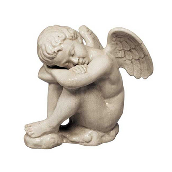 Garden Statue Ceramic Sleeping Baby Angel