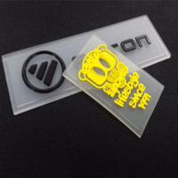 High quality custom Eco-friendly 3d pvc logo silicone clothing label