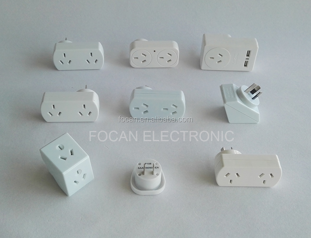 SAA Approval Australia to India Plug Travel Adapter for Australia/New Zealand