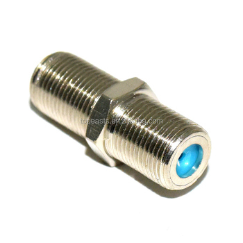 F81 Brass Splice Connector - 3GHz Female to Female F-Type Coaxial Cable Extension Barrel