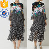Newest design women hotselling long sleeve women midi dress for girls and ladies TW2151D