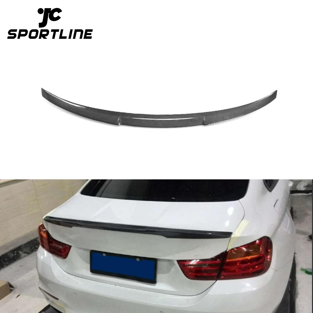 Carbon Fiber Rear Trunk Spoiler For 14-18 BMW 4 Series F36 Gran Coupe 4dr Type C