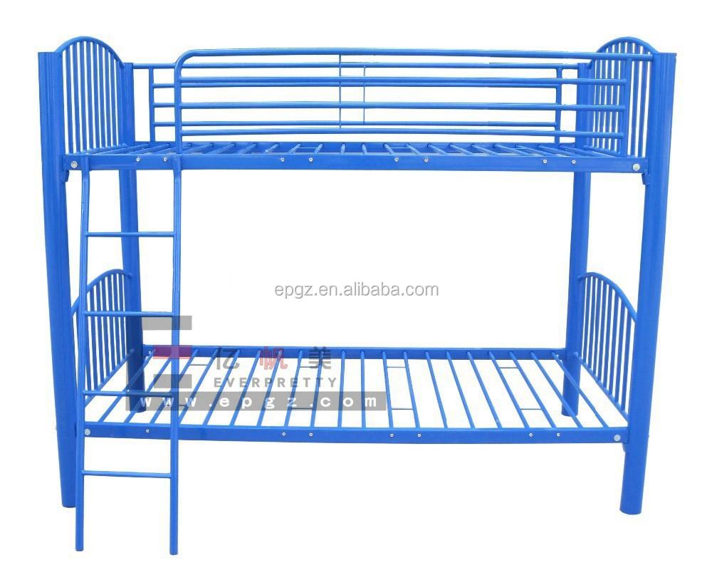 Steel double deck bed - Navy Steel Children Sleeping Double Decker Single Bunk Bed