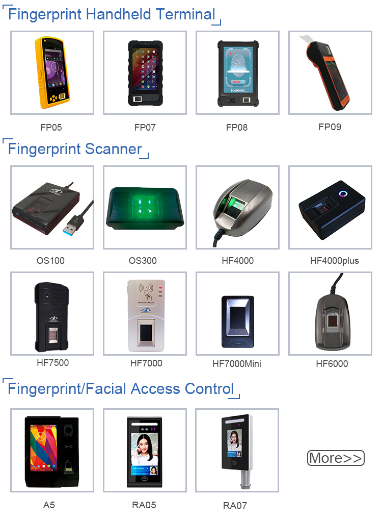 HFSecurity HF4000 USB C# C++ VB.net Optical Fingerprint Reader
