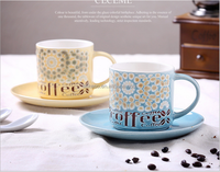 Hand-painted coffee cups and saucers creative personality characteristic cafes ceramic cup mug gift set