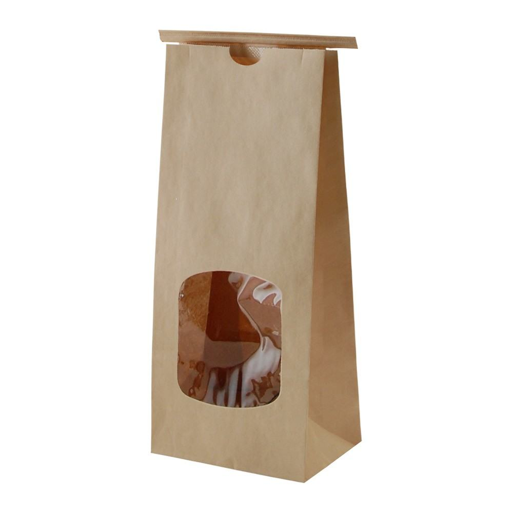 Kraft Paper Tin Tie Bags With Clear Window Product On