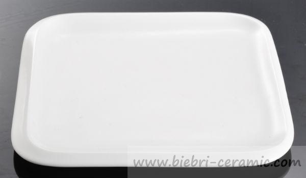 Plain White Ceramic Porcelain Square Custom Design Dessert/bread ...