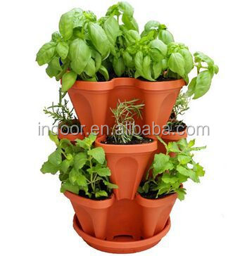 Fioriera erba da giardino impilabile vasi da fiori indoor for Vasi x fiori da esterno