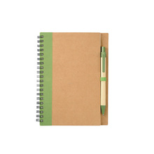 Vendita calda logo stampato riciclabile eco-friendly eco sprial <span class=keywords><strong>notebook</strong></span> con penna a sfera
