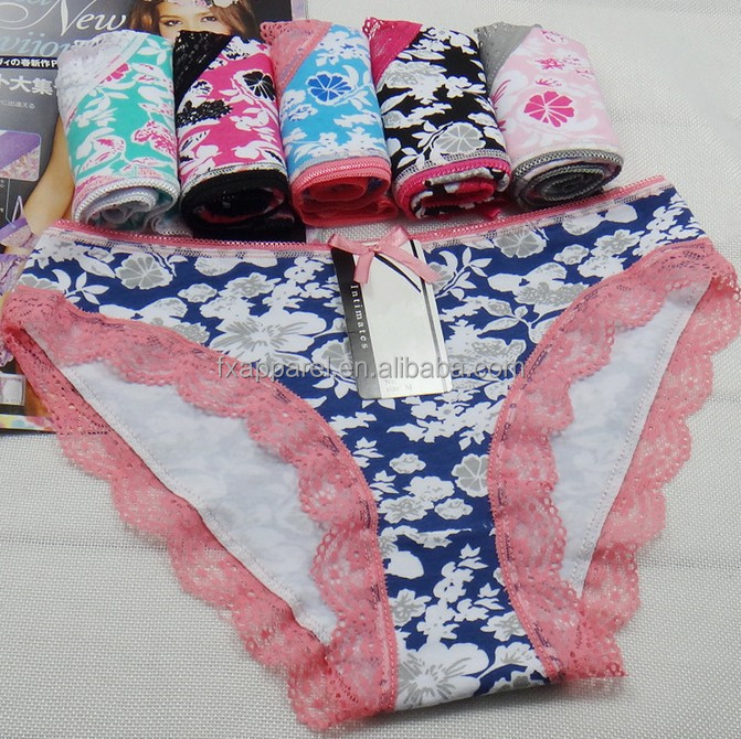 Multicolor Printed womens underwear M L XL Cotton Panty P8020