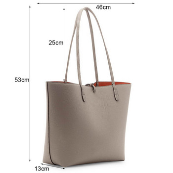 Por Artificial Leather Material Women Tote Bag Faux Handbag In High Quality