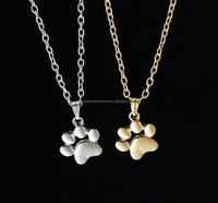 Fashion Cute dog cat paw necklace cheap wholesale