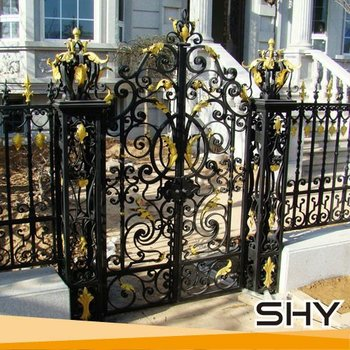 Wrought Iron Gate Cast Design And New House