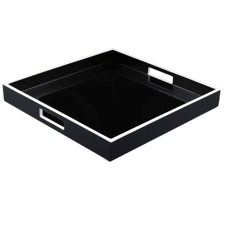 Luxury resin hotel custom bathroom accessories amenity tray set