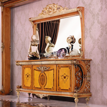Luxury French Style Empire Dining Room Sideboard European Wood