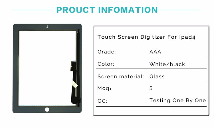 Professional manufacturer Best Quality Touch Screen For Ipad 4