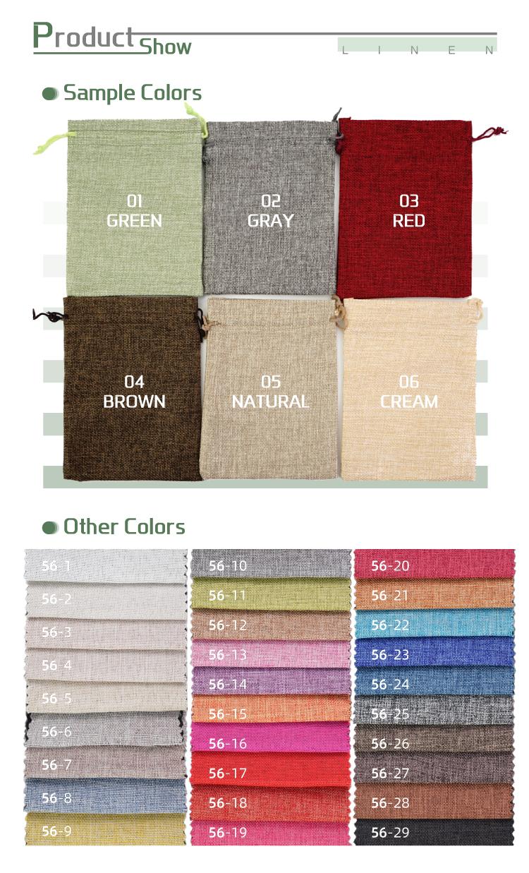 कस्टम लोगो मुद्रित पर्यावरण के अनुकूल धूल बैग के साथ शॉपिंग जूट बैग drawstring