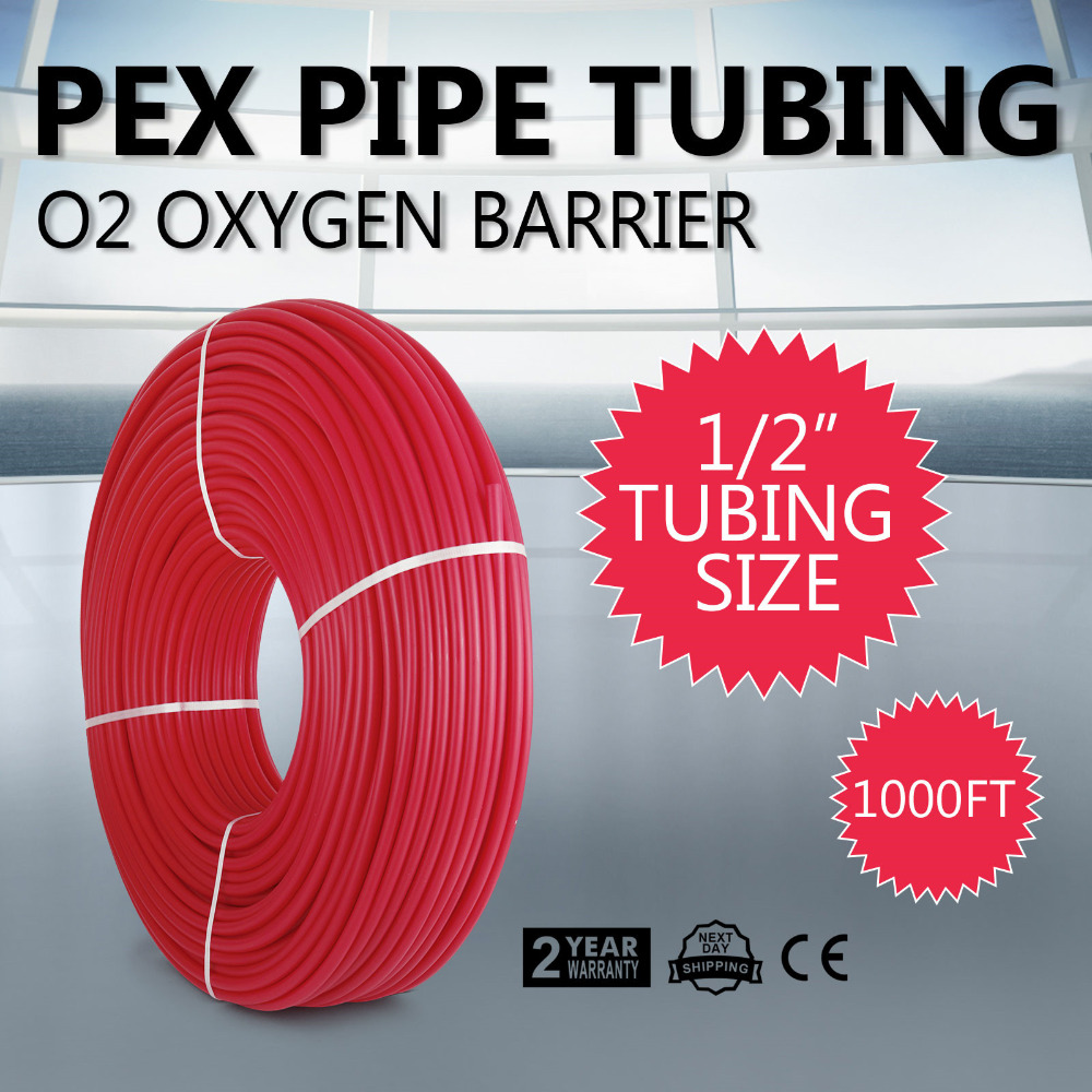 "1/2""x1000ft Pex Tubing pipe Oxygen Barrier O2 EVOH Red Radiant Floor <strong>Heat</strong>"