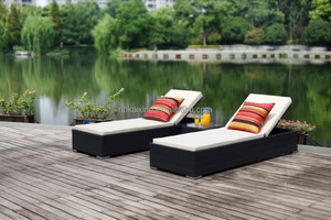UV protection rattan double sun lounger HB51.9121