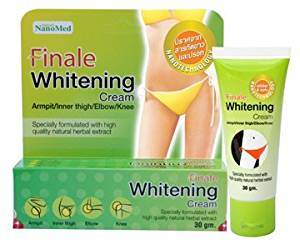 Beauty Set : 2 Units of Nanomed : Finale Whitening Cream Brighten Underarm and Groin Areas 30 g. Best Seller of Thailand [Free Facial Hair Epicare Spring A1Remover]