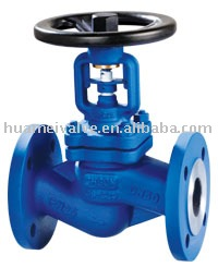 supply for low price DIN bellow sealed globe valve(OS&Y TYPE)