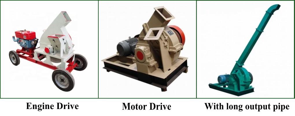 engine drive wood chipper