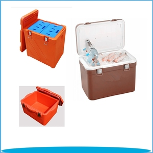 10L Plastic Movable Insulated Plastic Foam Cooler Bag Camping Fishing Ice Box with Strap