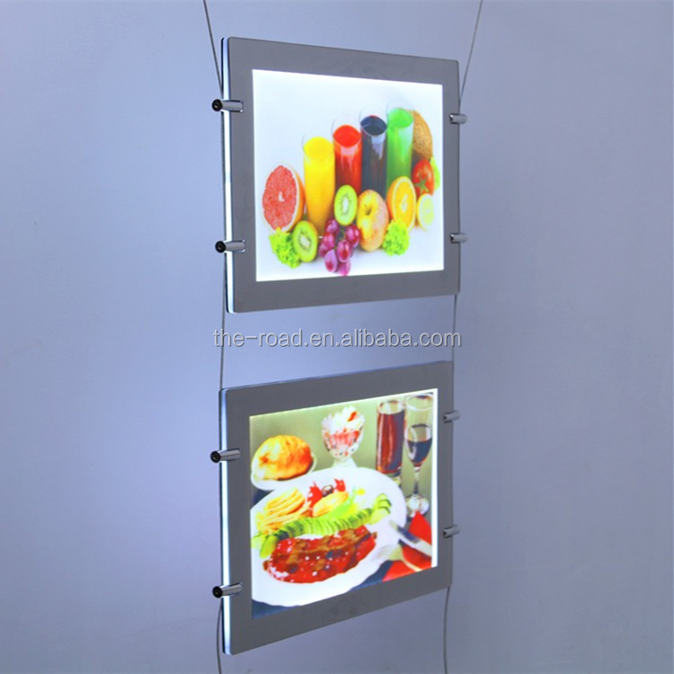 Light board Ultra thin double sided turnover lamp box Frameless textile lightbox display
