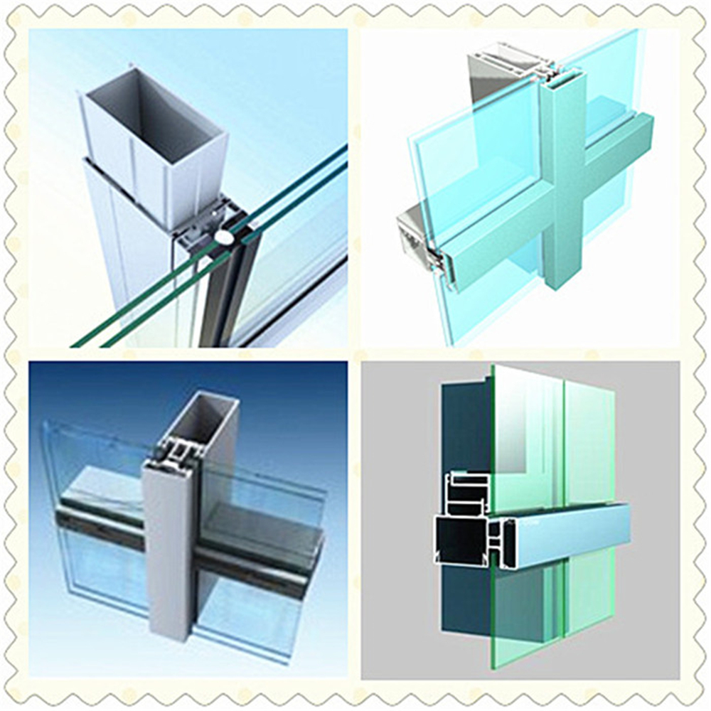 2016 China Frameless Double Glazed Glass Curtain Wall