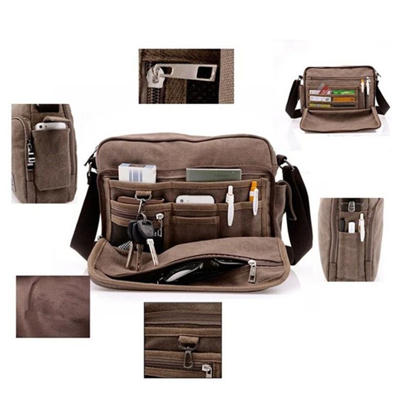 e708f8523edd Men s Canvas Messenger Shoulder Tool Bag Travel Satchel Hiking Student Tool  Bags