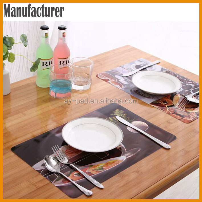 AY Cars Fashion Design Dining Table Mat Runner , Heat Protection Plastic  Place Mats For Advertising