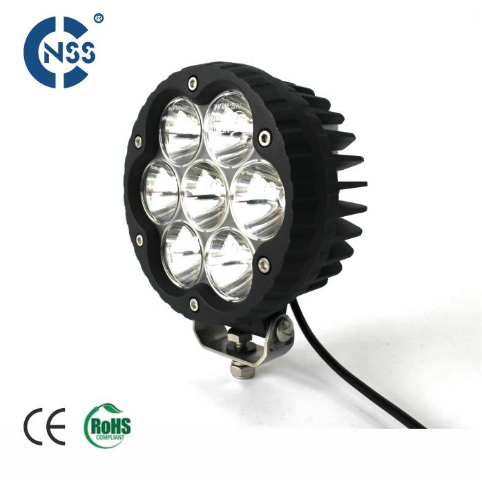 High Power 70W Offroad Car LED Work Light with 2 Years Warranty and Emark R112 Approved