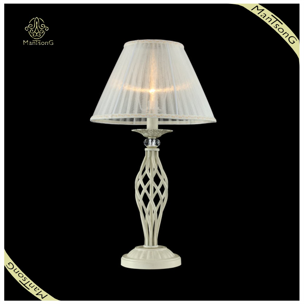 Home decorative lighting classic fabric reading light crystal table light