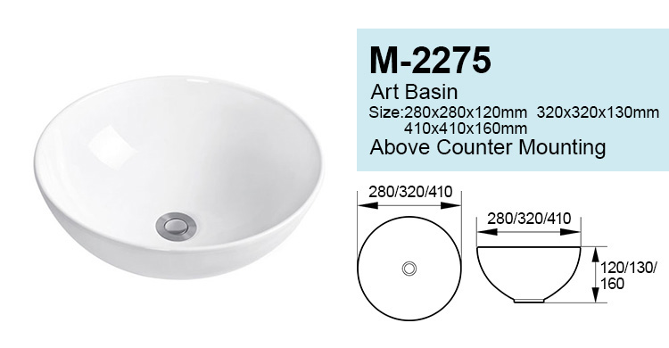 China manufactures ceramic round types of lavatory