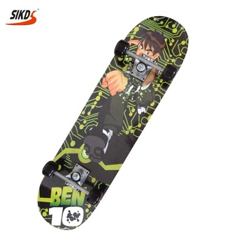 28*8.0 inch 9 ply Chinese Maple skateboard kids skateboard with sprey sand
