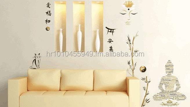 Art applique wall stickers zen buy wall decor stickers product