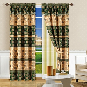 100% polyester curtain window ready made for living room