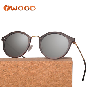 Vintage High Quality Speed Ship Wood Sunglasses Frame China with Polarized Lens