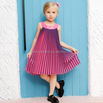344f1fb51c45d Yeni 2016 Kız elbise Prenses elbise Daire güzel şerit baskı çocuk giysileri  kızın Parti elbiseler