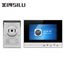 "Wired Video Intercom 7 ""TFT LCD Touch Screen Türklingel Intercom System Mit Bild und Video Aufnahme"