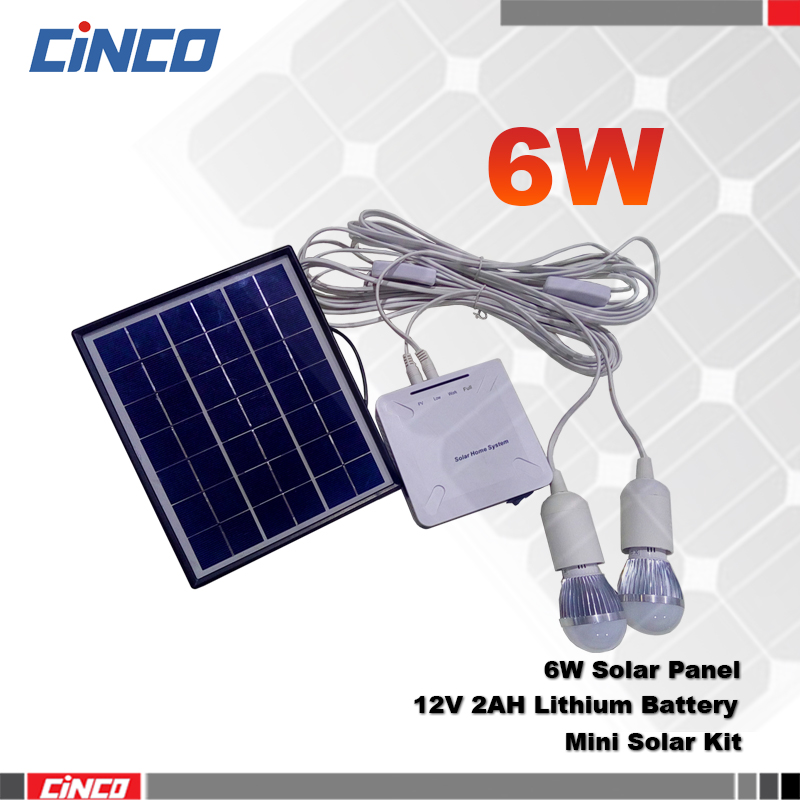 6W solar Emergency lighting indoor and outdoor use,mini solar lighting system