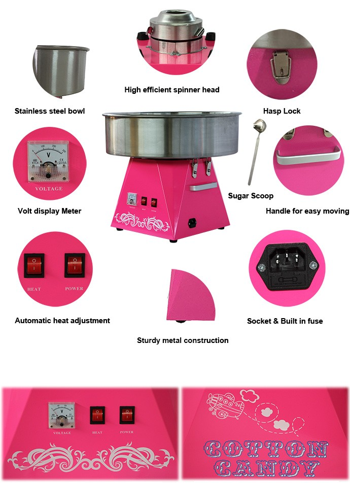 new commercial automatic flower cotton candy floss machine price at Guangzhou