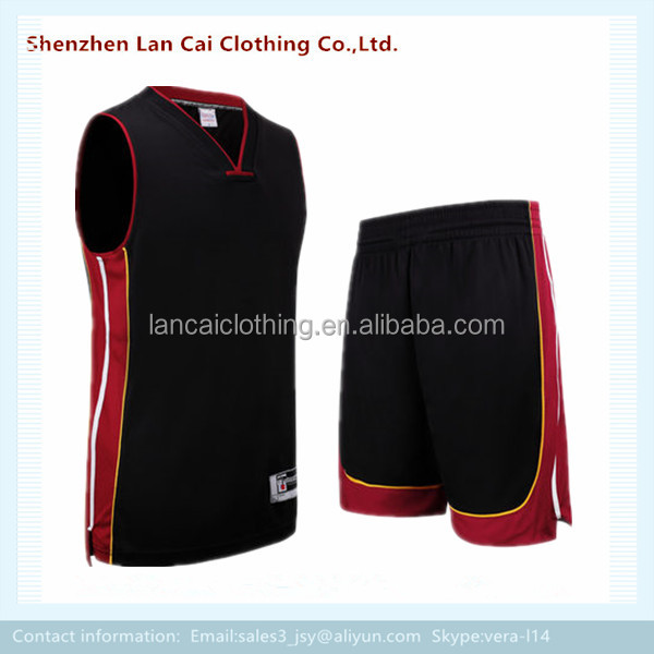 sleeveless basketball team traning wear plain basketball jersey and pants