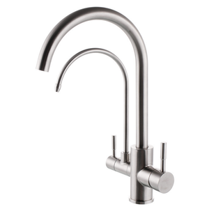 Dual Lever Swivel Adjustable Water Tap Flexible Kitchen Faucet
