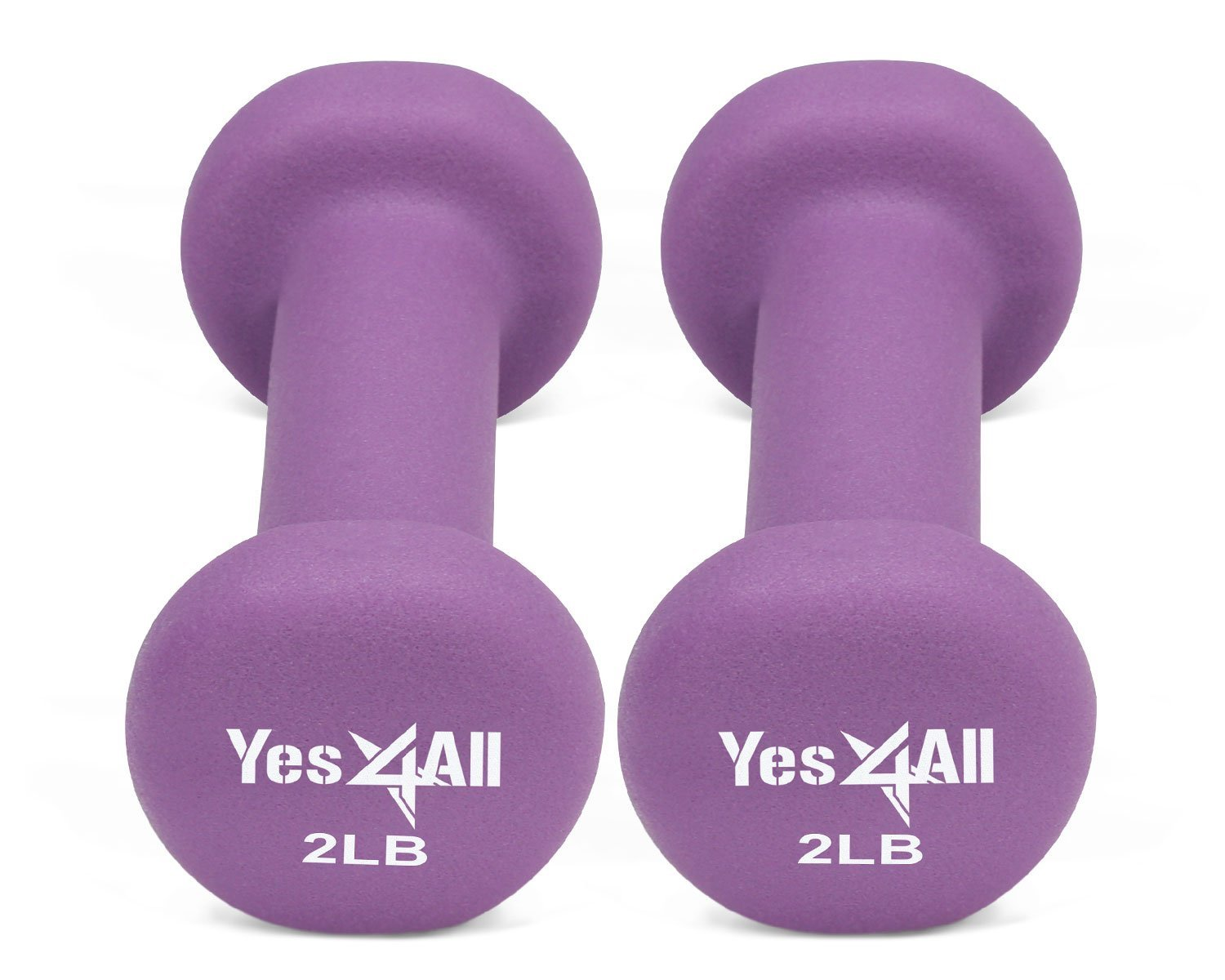 Get Quotations · Yes4All Deluxe Neoprene Dumbbells (A Pair) – Multi Color &  Weights Available